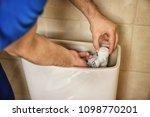 professional plumber fixing... | Shutterstock . vector #1098770201