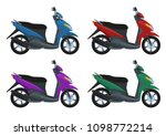 set of scooters with color... | Shutterstock .eps vector #1098772214