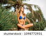 beautiful young slim girl in... | Shutterstock . vector #1098772931