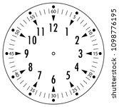 clock face for house  alarm ... | Shutterstock .eps vector #1098776195