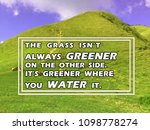 'the Grass Isn't Always Greener ...