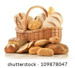 composition with bread and... | Shutterstock . vector #109878047