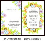 invitation with floral... | Shutterstock .eps vector #1098785897