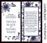 vintage delicate invitation... | Shutterstock . vector #1098788597