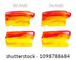 vector red and gold paint smear ... | Shutterstock .eps vector #1098788684
