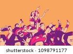 illustration of large croncert... | Shutterstock .eps vector #1098791177