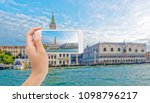 photographing grand canal with... | Shutterstock . vector #1098796217