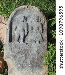 Small photo of Ancient stone artefact at the ruins of Shettihalli Rosary Church, Hassan, Karnataka, India which built by French missionaries in 1860s in scenic waterside spot.