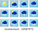 weather icon sigh vector | Shutterstock .eps vector #10987972