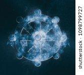 dharma wheel symbol buddhism.... | Shutterstock . vector #1098799727