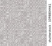 ethnic boho seamless pattern... | Shutterstock .eps vector #1098804461