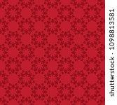 bright red vector seamless...   Shutterstock .eps vector #1098813581