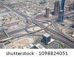 dubai  uae   april 27  downtown ...   Shutterstock . vector #1098824051