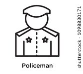 policeman icon isolated on... | Shutterstock .eps vector #1098830171