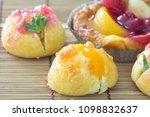 delicious choux cream | Shutterstock . vector #1098832637
