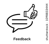 feedback icon isolated on white ... | Shutterstock .eps vector #1098833444
