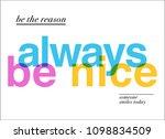 colorful positive feminine... | Shutterstock .eps vector #1098834509