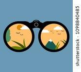 binoculars looking into the... | Shutterstock .eps vector #1098840485