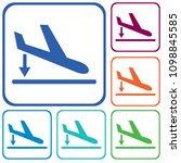 departure landing  plane icon... | Shutterstock .eps vector #1098845585