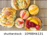delicious choux cream with... | Shutterstock . vector #1098846131