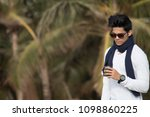 fashionable young man in... | Shutterstock . vector #1098860225