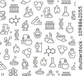 seamless pattern with chemistry.... | Shutterstock .eps vector #1098862055