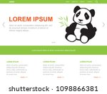 little panda  illustrative web...