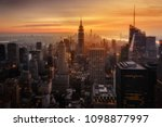 view of new york city from the... | Shutterstock . vector #1098877997