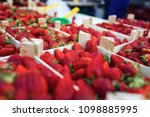 close up of strawberries trays... | Shutterstock . vector #1098885995