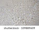 water drops on metal background | Shutterstock . vector #109889609