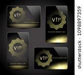 gold  platinum  exclusive ... | Shutterstock .eps vector #1098897359