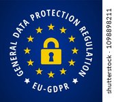 eu gdpr label illustration | Shutterstock .eps vector #1098898211