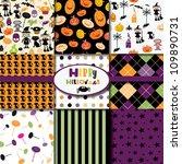 happy halloween collection | Shutterstock .eps vector #109890731