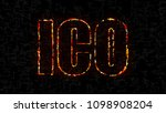text ico  initial coin offering ... | Shutterstock . vector #1098908204