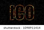 text ico  initial coin offering ... | Shutterstock . vector #1098911414