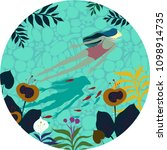 vector illustration of a circle ... | Shutterstock .eps vector #1098914735