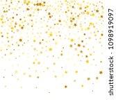 random falling golden stars on ... | Shutterstock .eps vector #1098919097