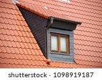 dormer with slate cladding | Shutterstock . vector #1098919187