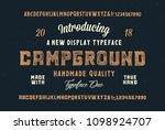 original handmade alphabet....   Shutterstock .eps vector #1098924707