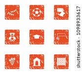 offspring icons set. grunge set ... | Shutterstock .eps vector #1098933617