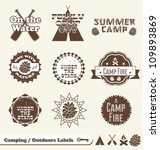 vector set  camping and outdoor ... | Shutterstock .eps vector #109893869