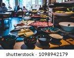 abundant food table  brunch in...   Shutterstock . vector #1098942179
