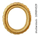 gold vintage frame isolated on... | Shutterstock . vector #109894529