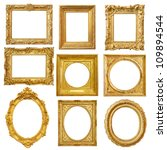 set of golden vintage frame... | Shutterstock . vector #109894544