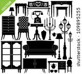 Antique Furniture Silhouettes...
