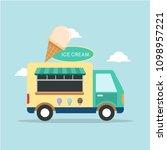ice cream truck illustration   Shutterstock .eps vector #1098957221