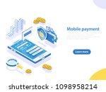 flat isometric concept of... | Shutterstock . vector #1098958214
