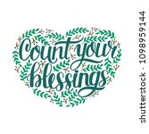 hand lettering count your... | Shutterstock .eps vector #1098959144