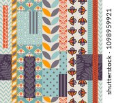 seamless pattern with...   Shutterstock .eps vector #1098959921