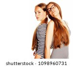 two young workers isolated on... | Shutterstock . vector #1098960731
